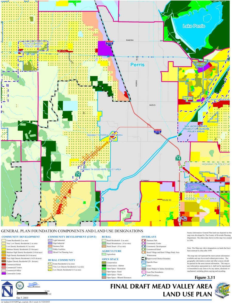 General Plan Environmental Impact Report Volume I Solar Insect Killer For Protecting Crops In Farms Electronic Circuit Open Space Areas The Preservation Of Publicly Owned Habitat And Park Land Are Designated Lake Perris State Recreational Area San Jacinto
